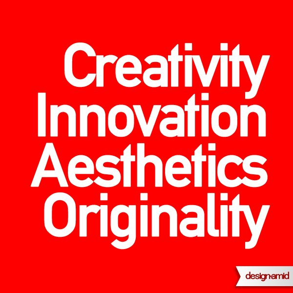 Creativity, Innovation, Aesthetics and Originality