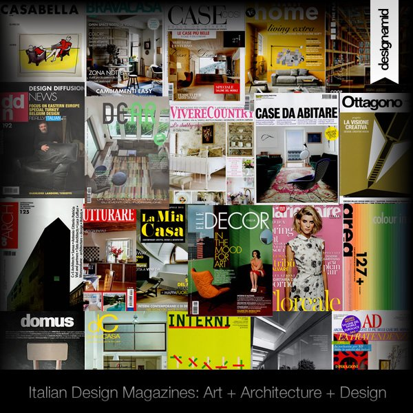 Italian Design Magazines to Publish Your Architecture, Furniture and Interior Design Works