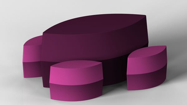 Soft and Rounded Furnitures for Littles